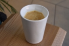 And the end result: my flat white to go in my Therma Cup.