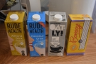 There's also a decent range of non-dairy alternative milks.