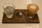 Once again, I had the Chelelektu, this time in a cortado at the barista's suggestion.