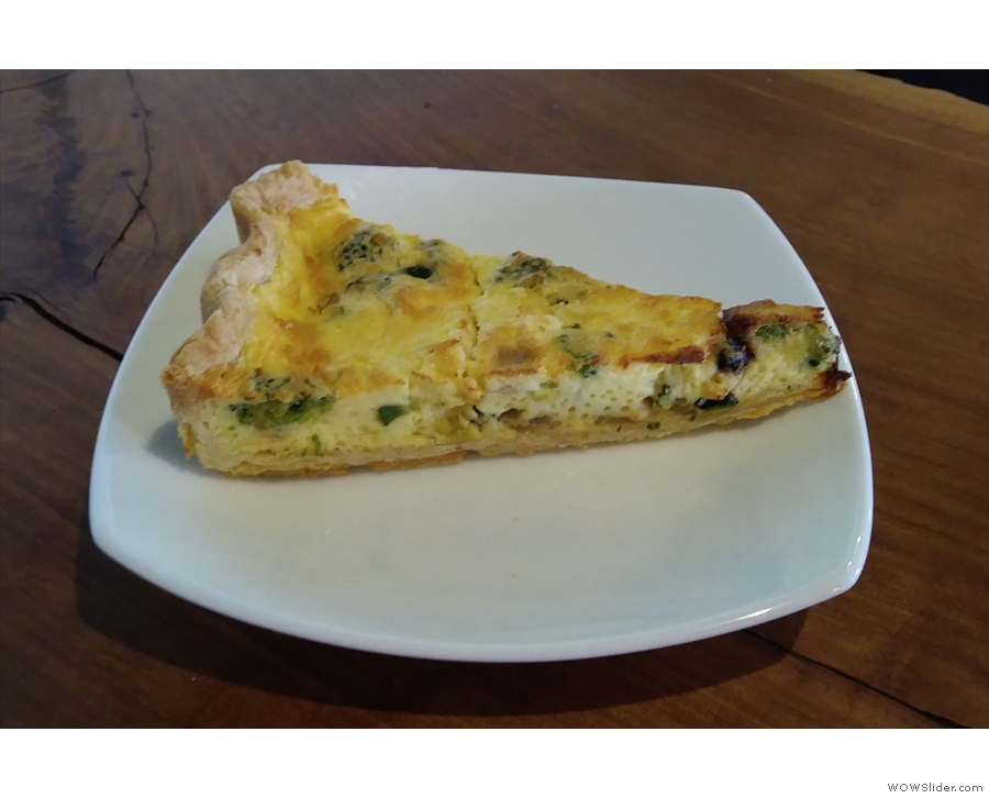 ... along with a rather tasty slice of quiche.