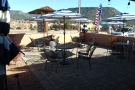 The patio itself, seen from the front of Firecreek on the right-hand side...