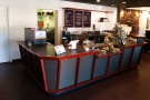 This is the view of the counter that greets you on entering from the left...