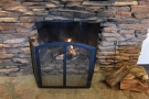 There are plenty of neat touches, including the fireplace (it can snow in winter up here).