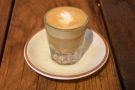 I had a cortado, made using the Guatemalan single-origin.