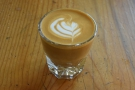 The espresso, the house blend, 120PSI, formed the basis of my cortado.