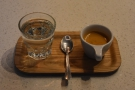 My espresso, the 120PSI blend again, beautifully presented...