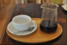 In the end I went for a V60, which was beautifully presented on this tray.