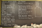 The coffee menu. The original guest coffee had just run out, hence the blank space.