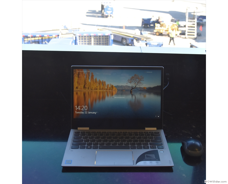 My laptop and the view...