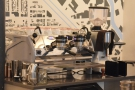 There's a second La Marzocco Strada at the far end of the counter.