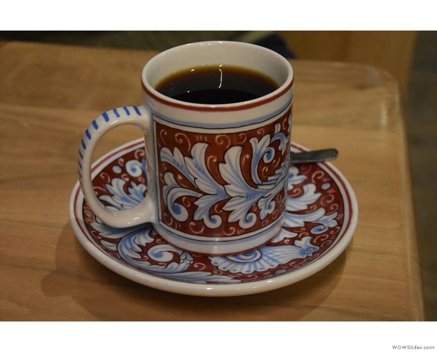 Amanda, meanwhile, had the Guatemalan pour-over, served in what is probably...