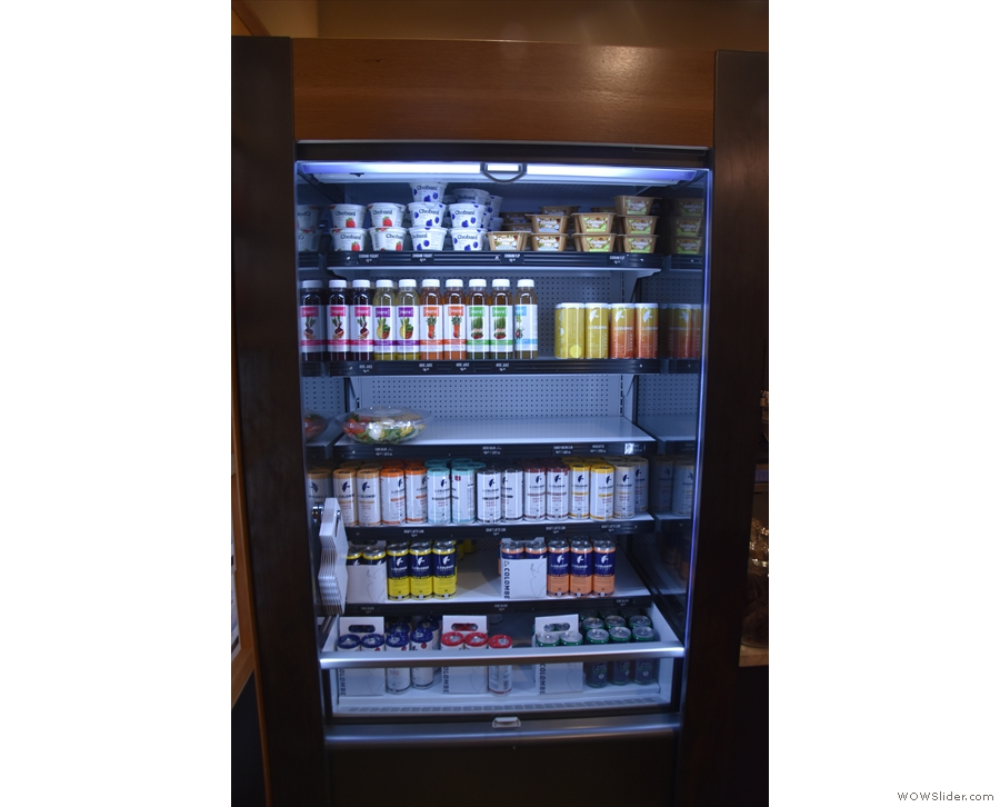 Next comes the cooler cabinet with the grab and go salads...