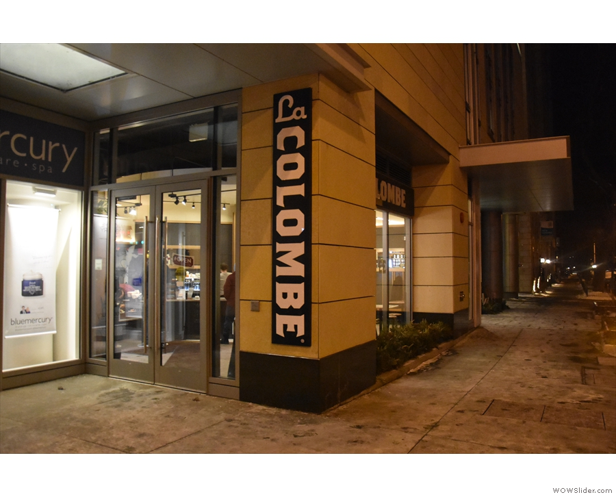 La Colombe on the corner of Elm and State on a freezing January evening...