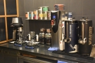 Meanwhile, the batch-brew & pour-over are tucked away behind the counter to the left...