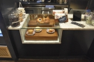 ... which are displayed in the glass case built into the counter.