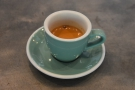 I had a shot of the espresso, served in a classic espresso cup...