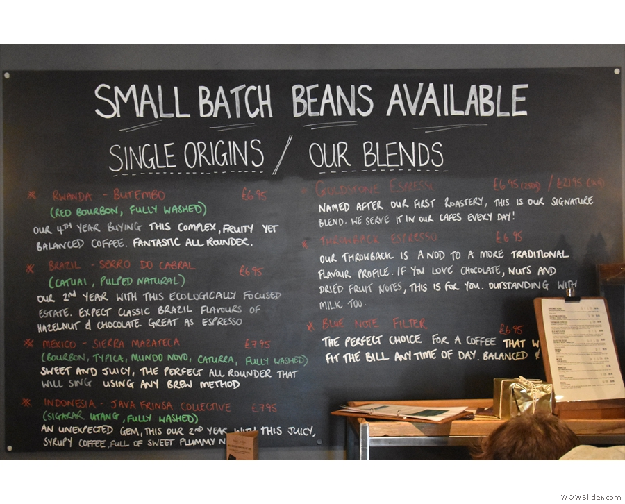 You can, of course, buy the full range of Small Batch's blends and single origins...