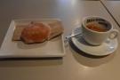 I went for a doughnut and an espresso.
