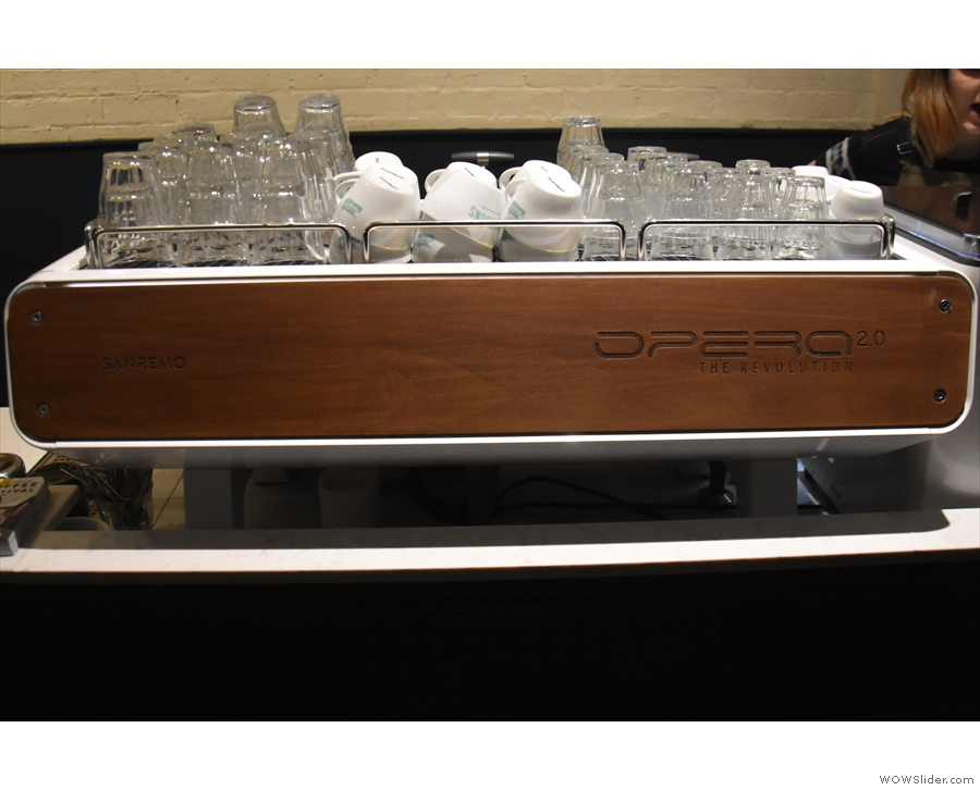 Talking of which, the espresso machine, a Mk 2.0 Opera, is worth a second look.