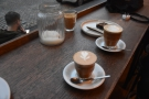 I was there with fellow coffee blogger, Charlotte Scotland, hence the two coffees.