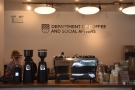 By then, it was time for coffee. Fortunately, the Department of Coffee & Social Affairs...