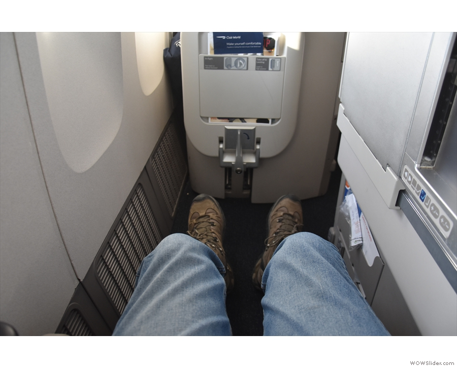 There's not a lot of space around the seats, but there is plenty of leg room.