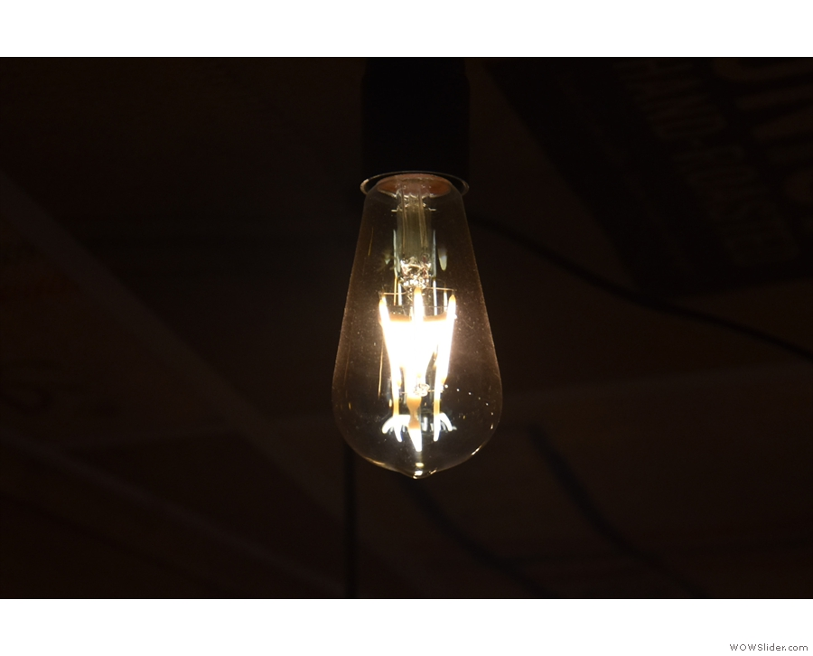 Obligatory light bulb shot.