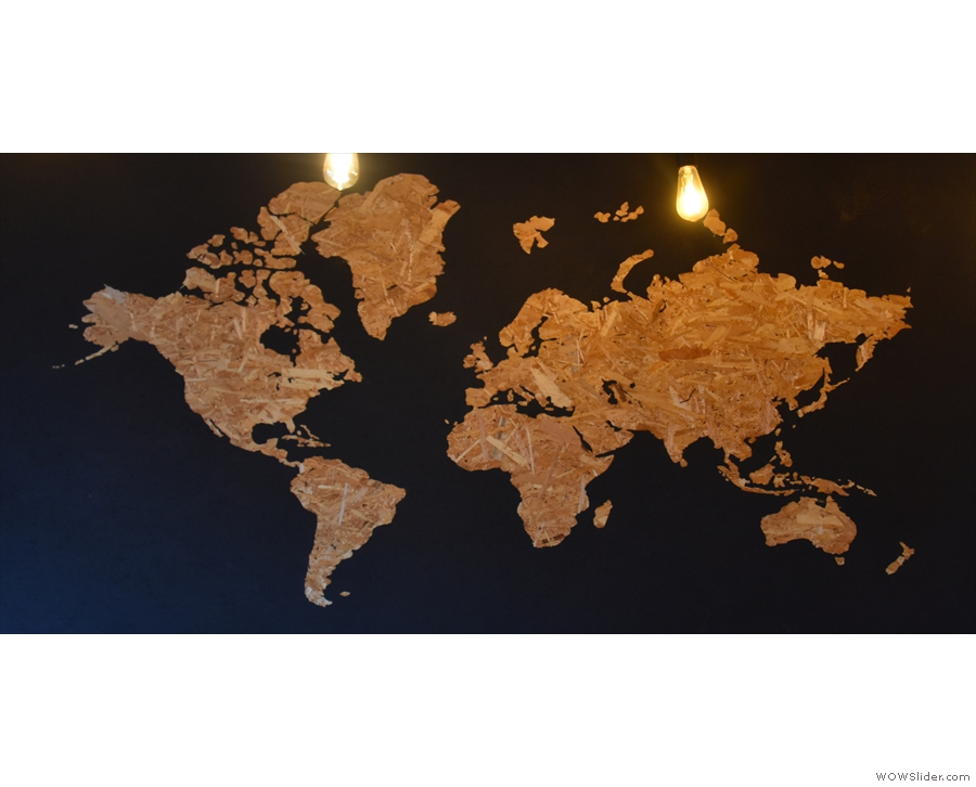 Meanwhile, there's this lovely world map in the main room.