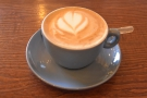 I started off with a flat white...