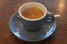Finally, I rounded things off with an espresso.