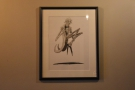 Talking of decoration, the back room has these drawings, which, I believe are for sale.