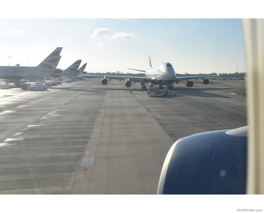 ... sneaking past this Boeing 747...