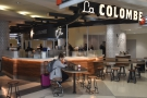 The second La Colombe is at Terminal C and is much more like a regular coffee shop.