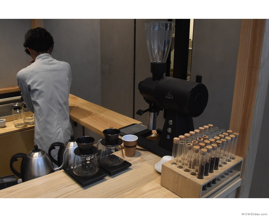 ... and the pour-over at the front on the right, where you'll find...