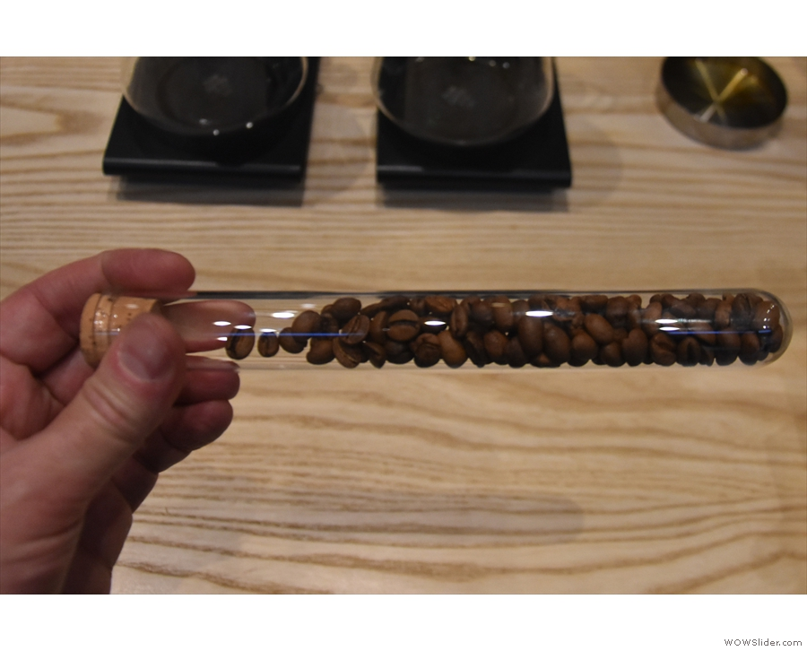 ... while this is the single-origin (an Ethiopian) used on batch-brew.