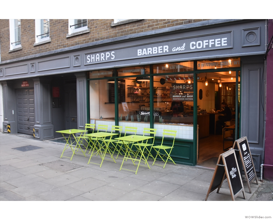... Sharps Barber Shop and Coffee Bar.