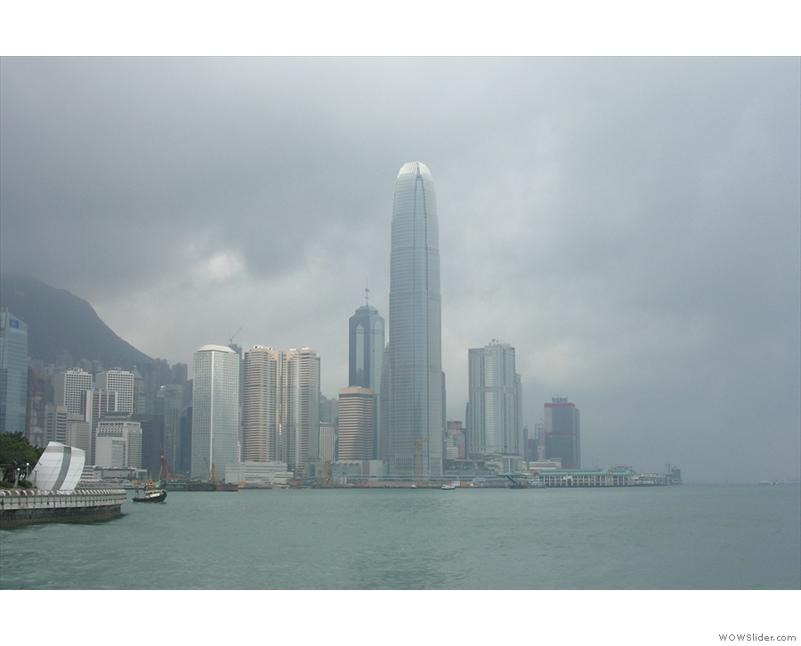 ... the Hong Kong island skyline, as seen from the Star Ferry.