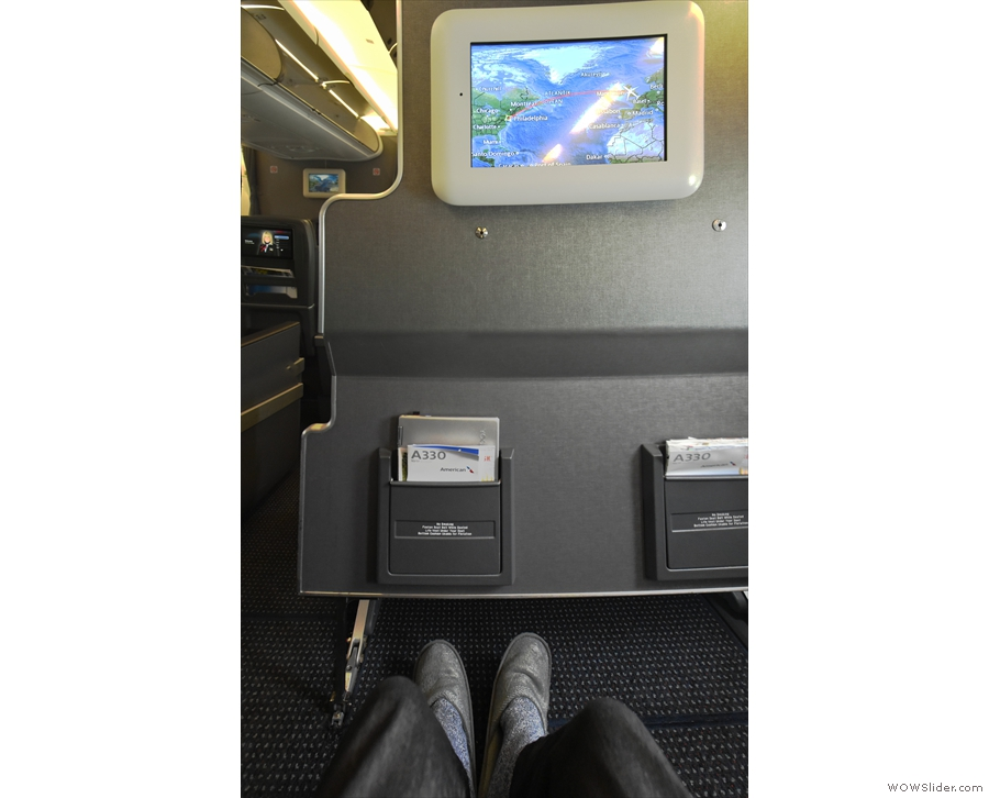 ... although in recent years, I'd taken to getting exit row or bulkhead seats for the...