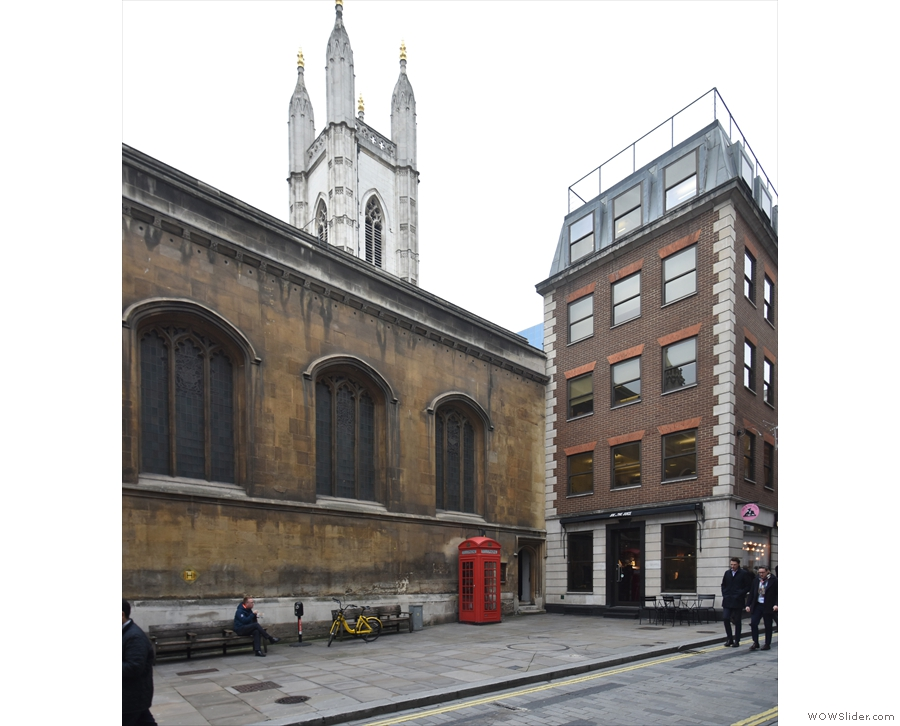 St Mary Aldermary on Watling Street in London, home of Host Café.