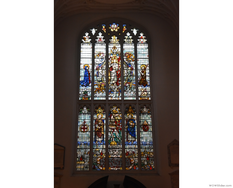 This magnificent stained-glass window is above the door. Isn't it glorious?