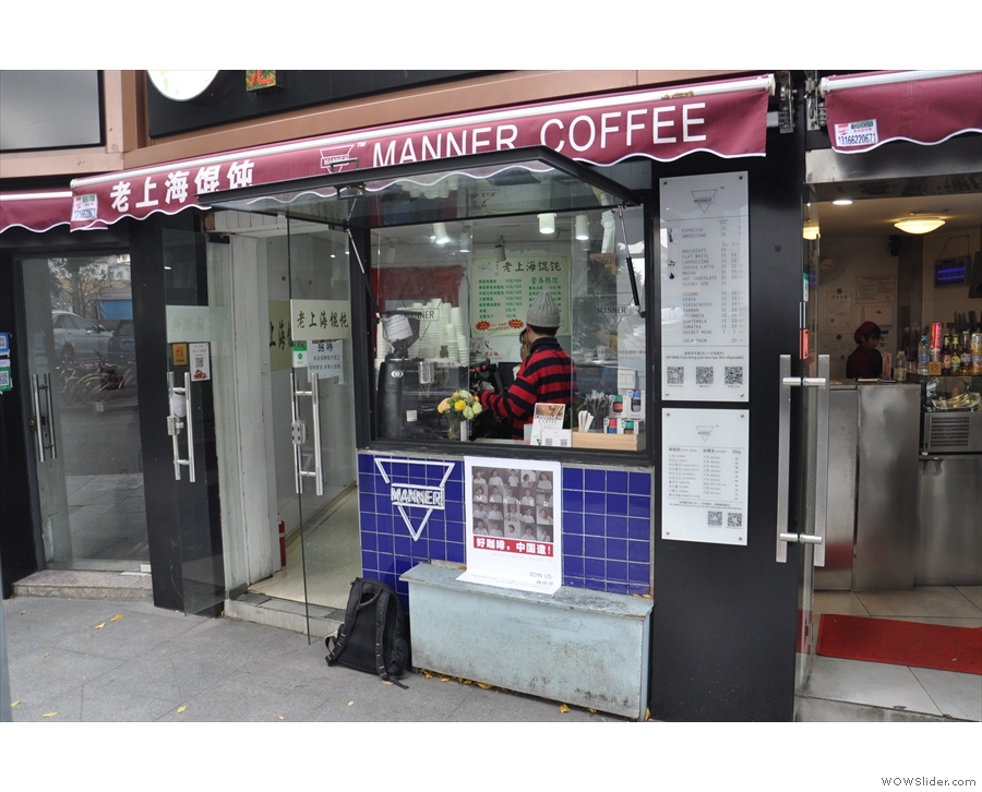 ... you'll find the second branch of Manner Coffee.
