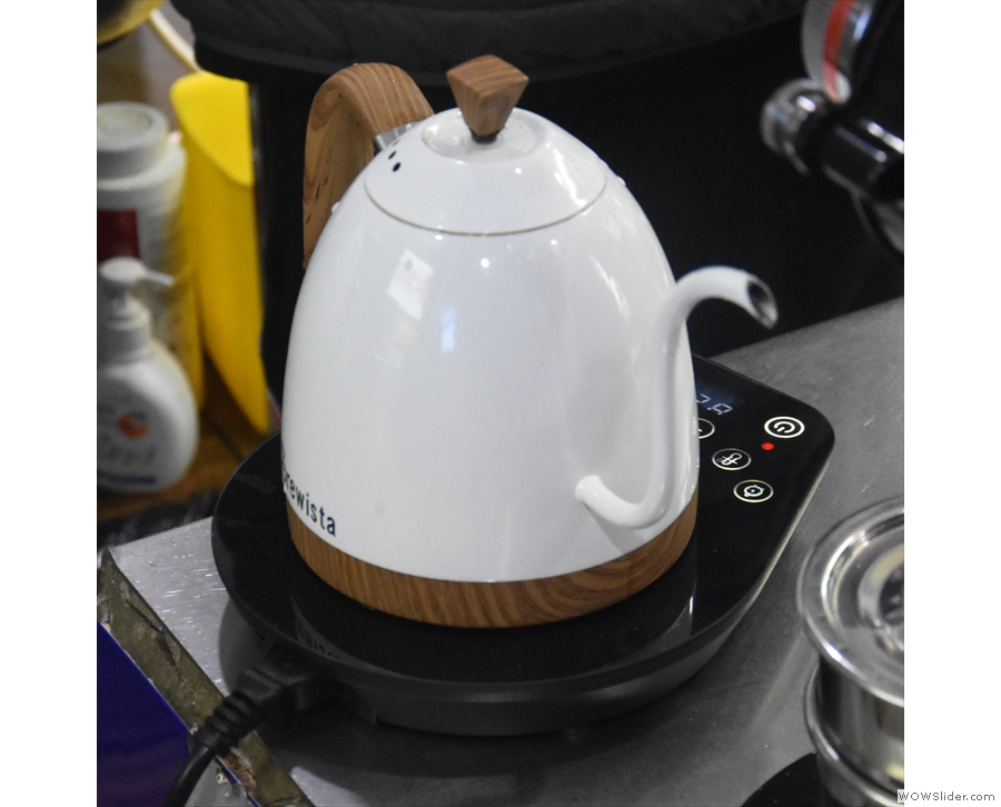 You're also right next to the pour-over station and the Brewista kettle.