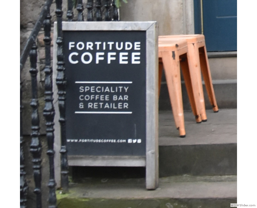 The A-board makes it clear what Fortitude is all about.