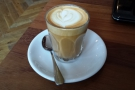 On my first visit in 2014, I had a piccolo, made with an Ethiopian Yirgacheffe Peabery...