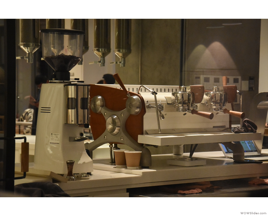 ... where you can get a good look at one of % Arabica's Slayer Espresso machines.
