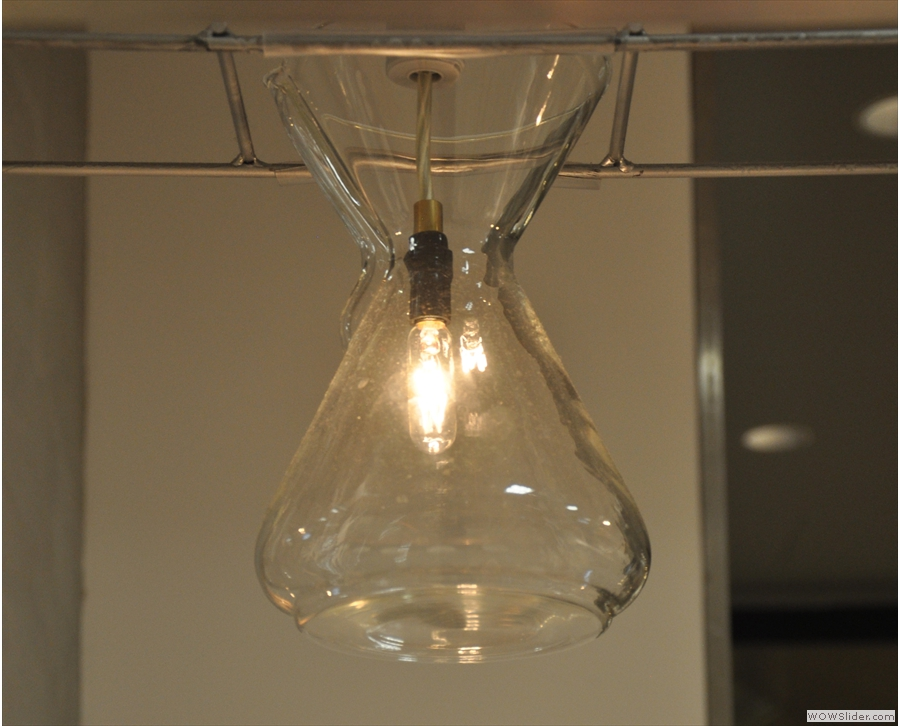 ... with each Chemex housing a light bulb.