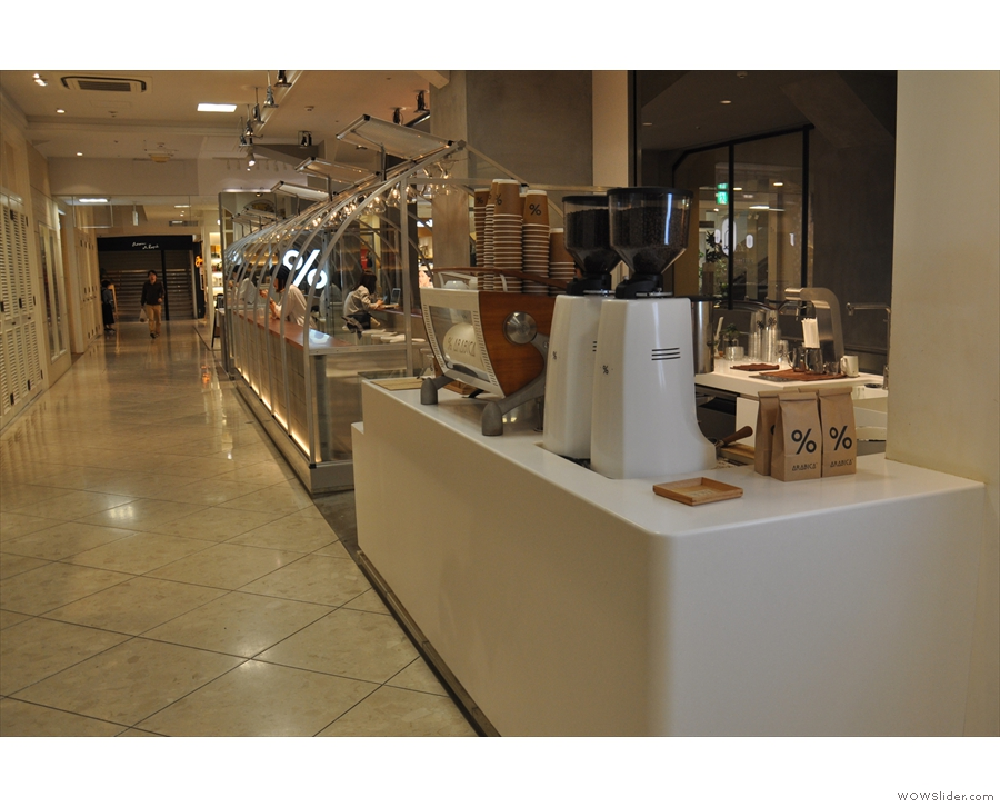 % Arabica, inside the Fujii Daimaru department store in Kyoto.