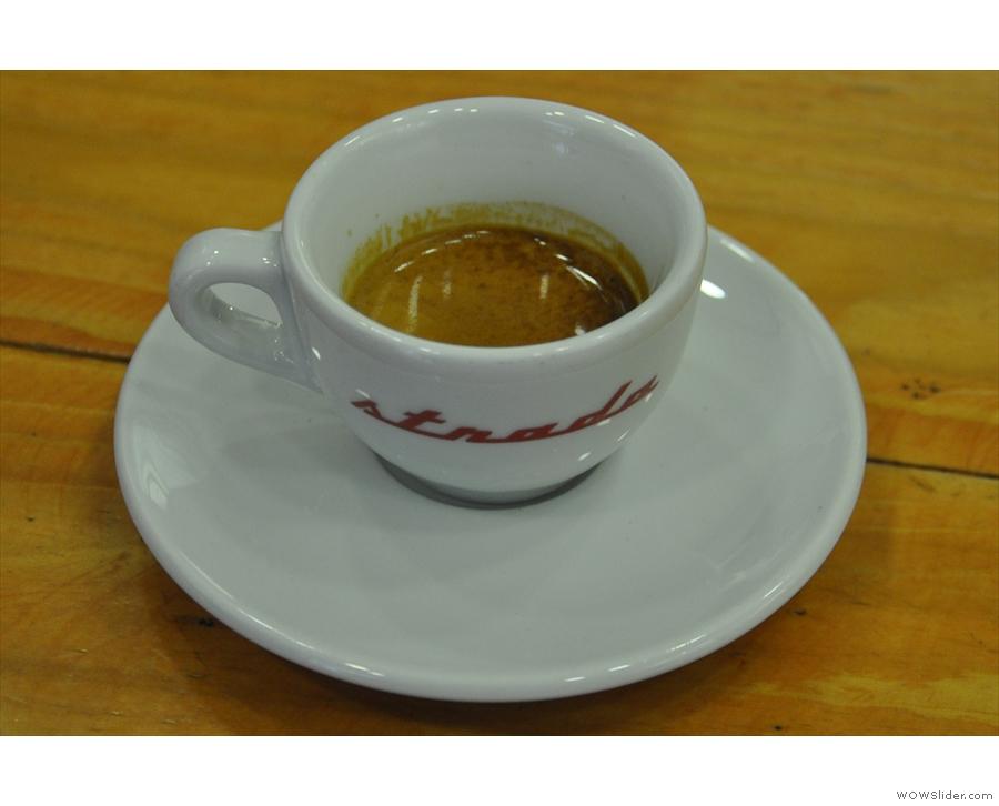 On my return in 2017, I had a (single) espresso...
