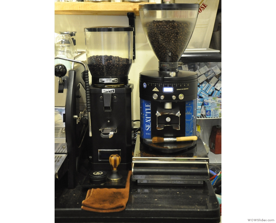 ... as are the two grinders, including a swish EK30.