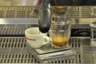 If you love watching espresso extracting, definitely sit at the counter!